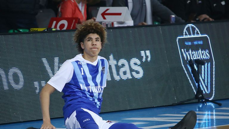 LaMelo Ball in action in Lithuania