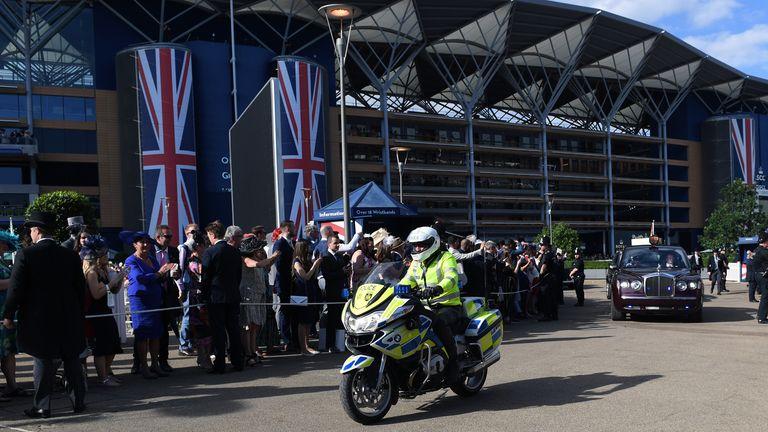 Queen Elizabeth II departs on day five of Royal Ascot
