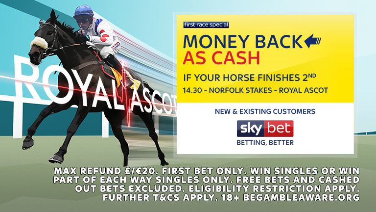 Sky Bet Money Back as Cash if 2nd