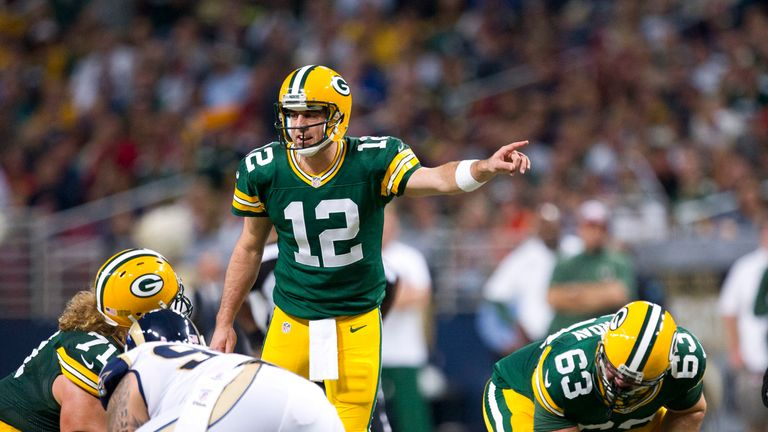 Rodgers has frequently called plays from the line throughout his entire career
