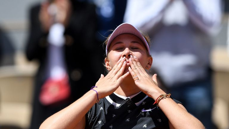 The American is the second-youngest player ranked in the WTA top 100