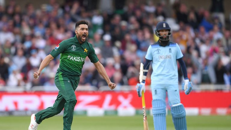 Mohammad Amir is Pakistan's leading wicket-taker at the World Cup with 10 so far