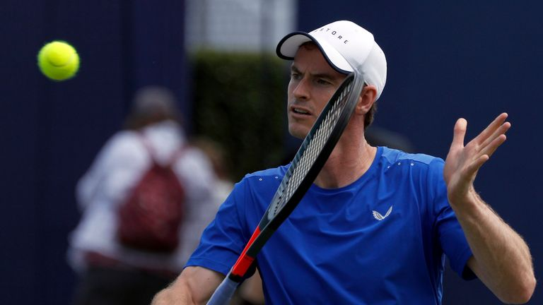 Murray has been practising at Queen's Club this week ahead of his return from a hip operation