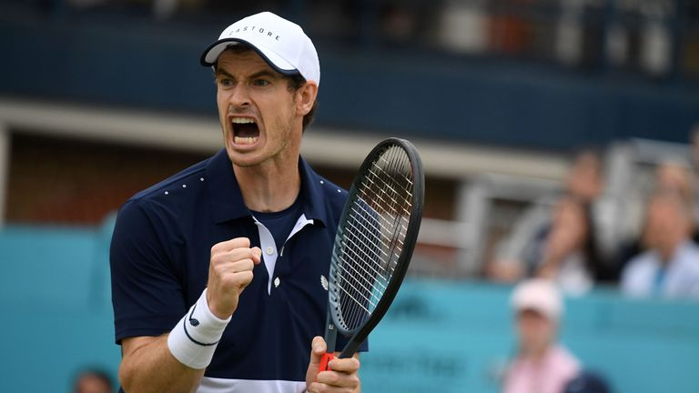 Andy Murray played at last year's Fever-Tree Championships tournament at Queen's Club