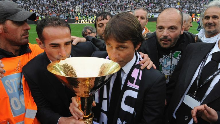Alessio and Conte won three Serie A titles and the 2016-17 Premier League together