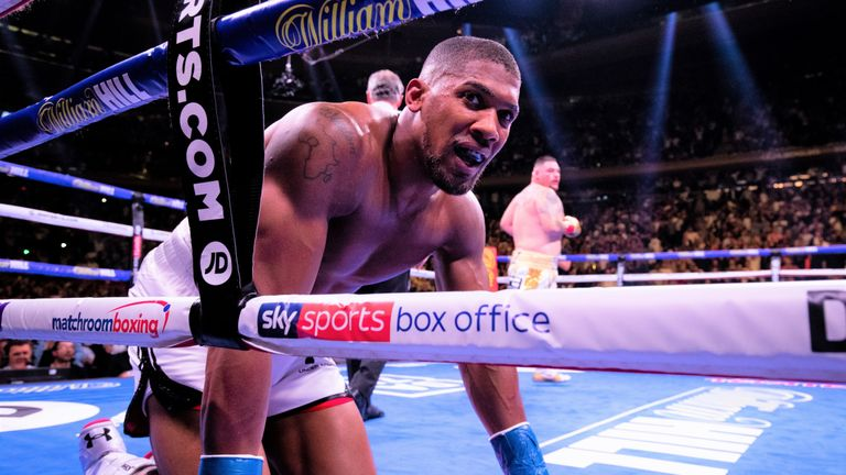 Anthony Joshua's world title reign was ended by Andy Ruiz Jr in New York