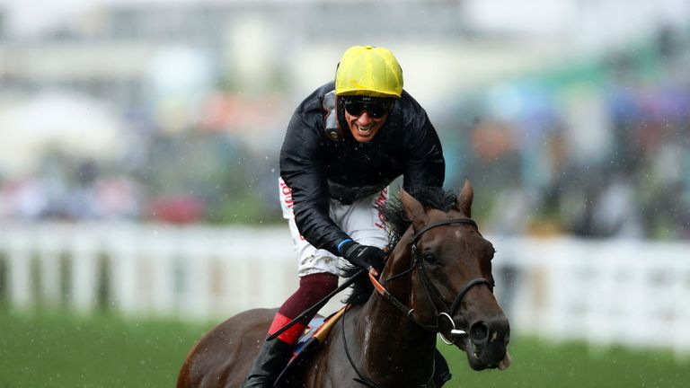 Frankie Dettori was successful in the Prince of Wales's Stakes