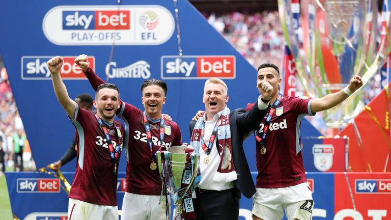 Championship play-off winners Aston Villa join Norwich and Sheffield United in the top flight this season