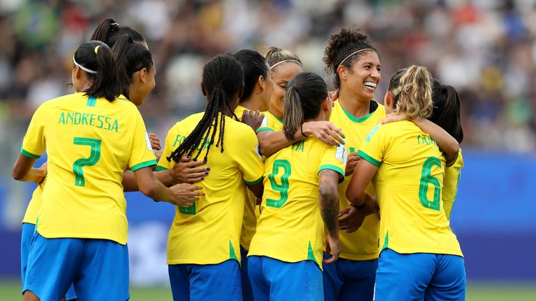 Brazilian veteran Cristiane scored Brazil's first World Cup hat-trick in 20 years.