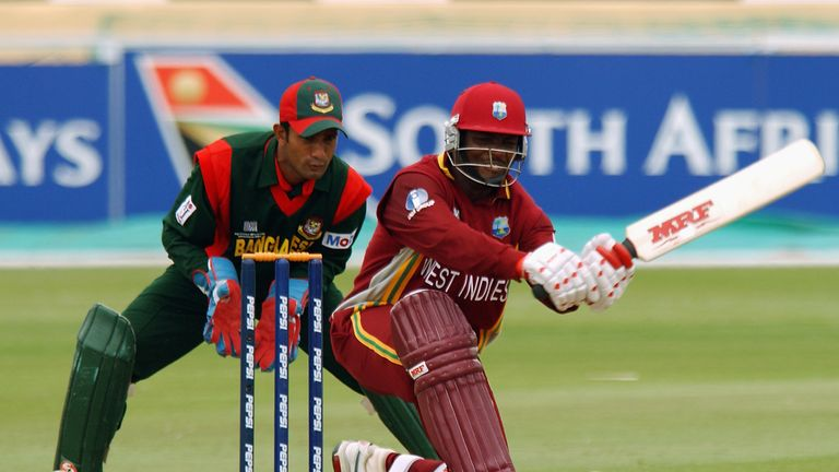 Brian Lara hit 46 as the West Indies scored 244 against Bangladesh before the rain scuppered them