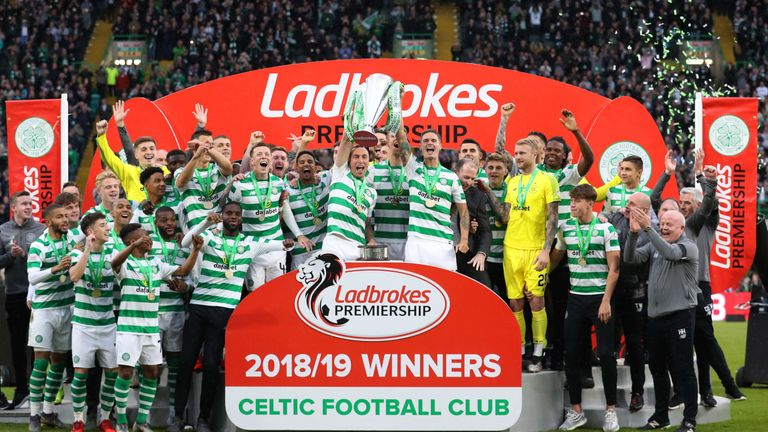Celtic won their 50th league title last season