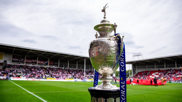 The Coral Challenge Cup trophy