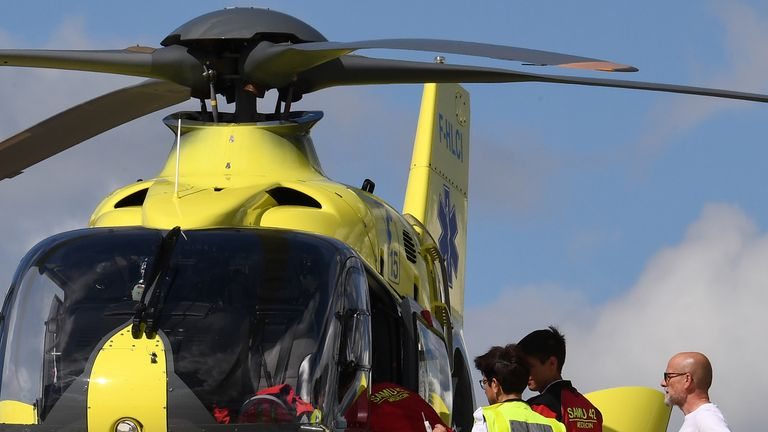 Froome was airlifted to St Etienne University Hospital on Wednesday