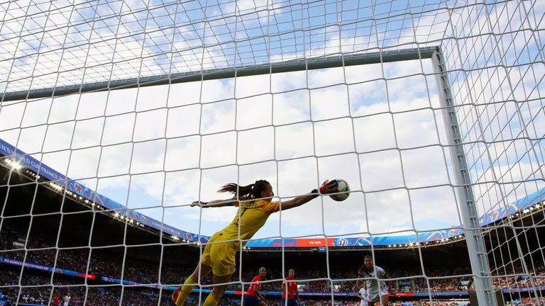 Chile's Claudia Endler became the first goalkeeper to make 10 saves at this year's Women's World Cup following her six against USA