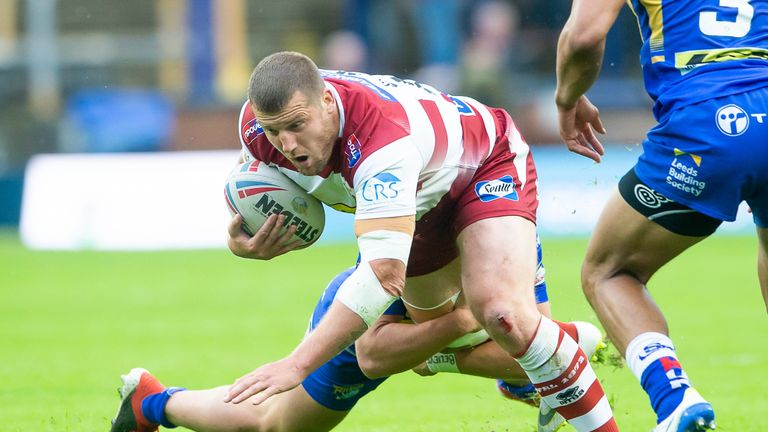 Wigan's Tony Clubb had one try ruled out before scoring one after the final hooter