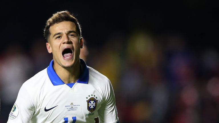 Coutinho shone for Brazil at the 2019 Copa America and 2018 World Cup operating on the left of a front three