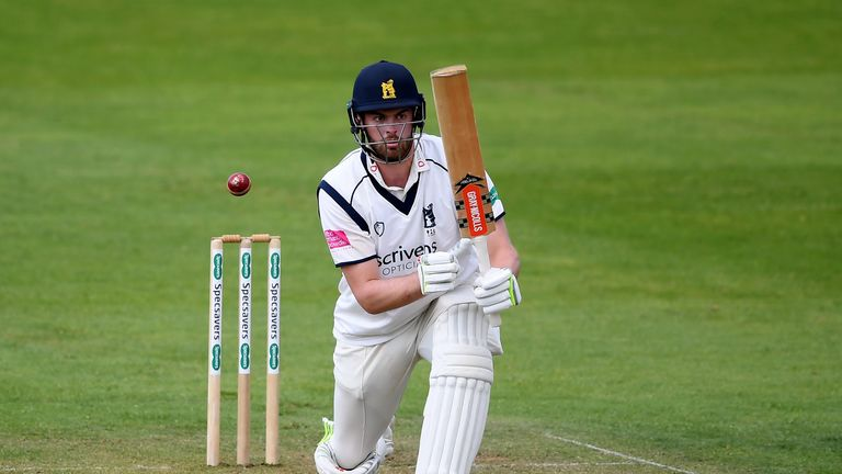 Dominic Sibley hit a half century for Warwickshire against Yorkshire on day two