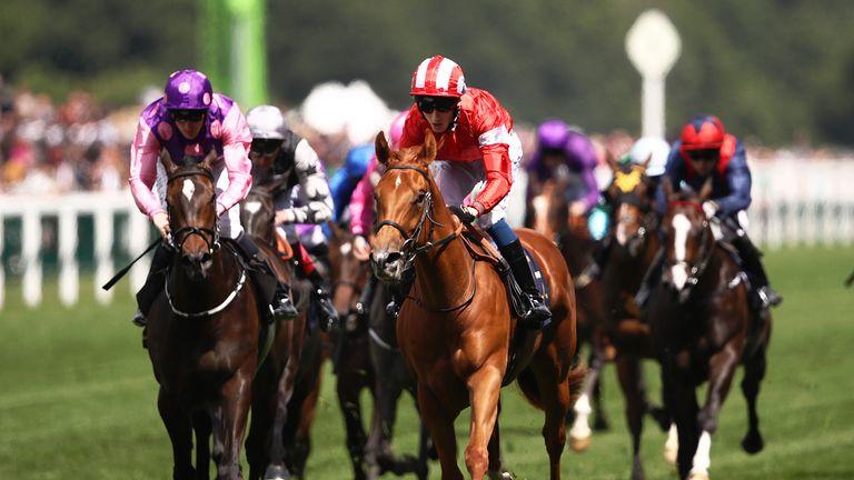 Daahyeh wins the Albany Stakes at Royal Ascot