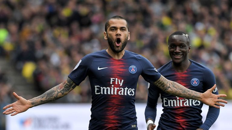 Dani Alves is a reported target for Arsenal