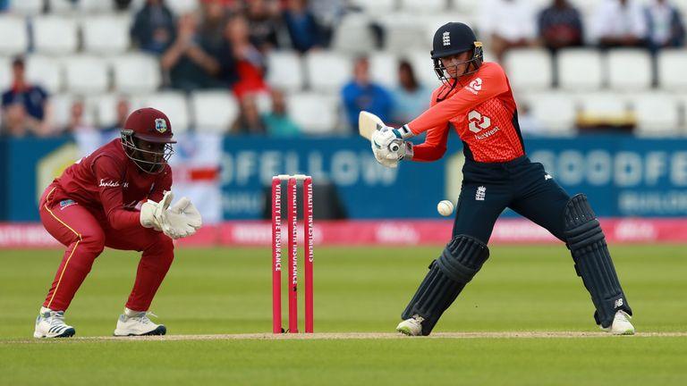 Danni Wyatt struck her sixth T20I half-century for England