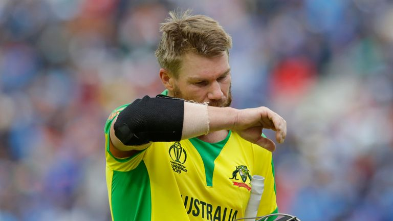 David Warner found it hard to accelerate in Australia's game against India