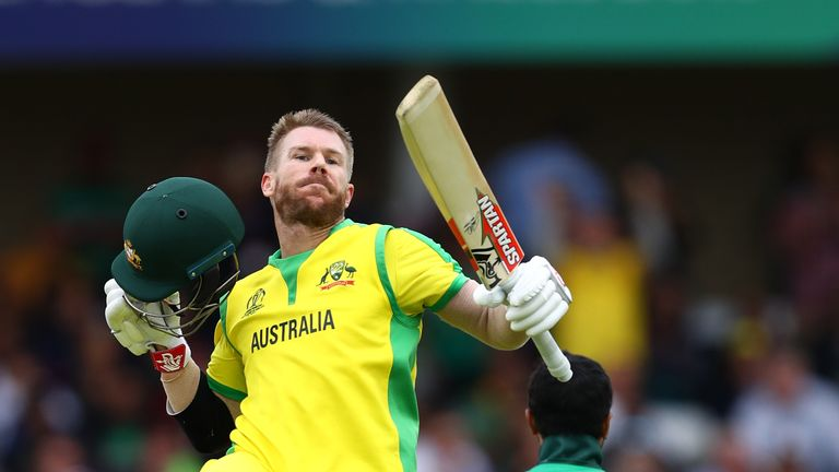 David Warner has smashed three World Cup fifties and three tons at the top of the order for Australia