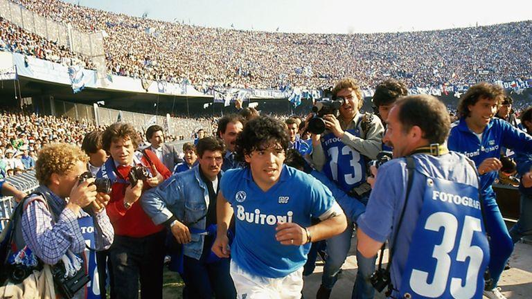 Diego Maradona at Napoli [Credit: Alfredo Capozzi]