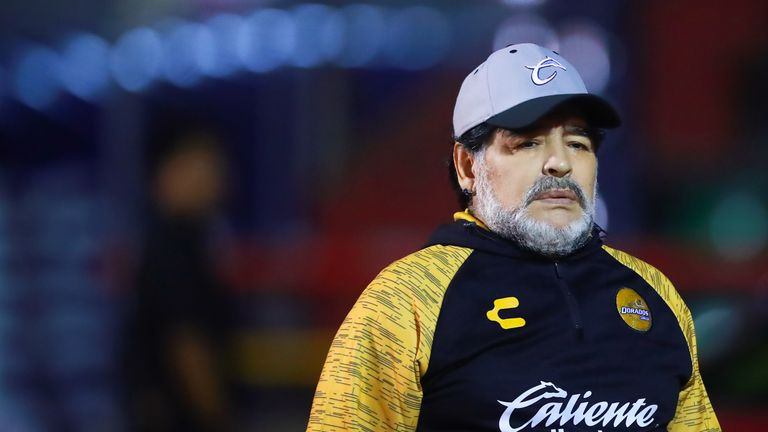 Maradona is currently coaching Gimnasia La Plata in Argentina