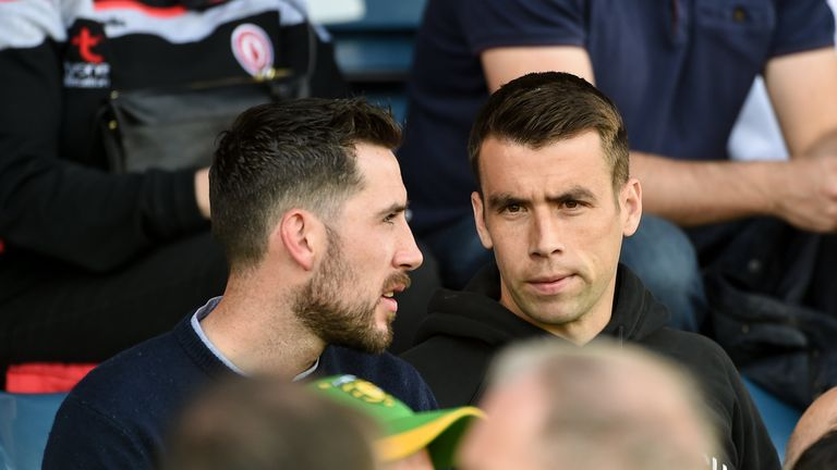 Republic of Ireland soccer captain Seamus Coleman was in attendance to cheer on his native Donegal