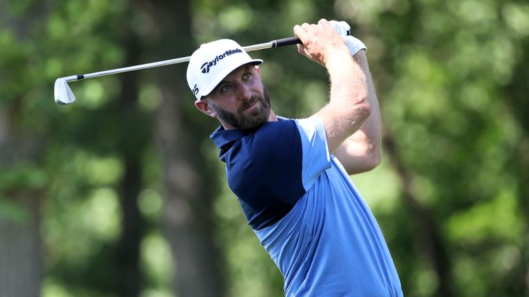 Dustin Johnson is eight shots off the lead after 18 holes