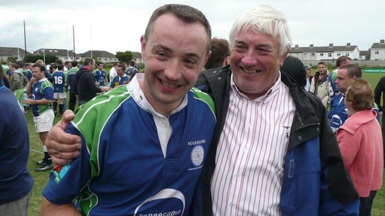 This weekend's Union Cup tournament in Dublin will stir memories for Eamon McConomy, pictured here with his father Martin at the Bingham Cup in 2008
