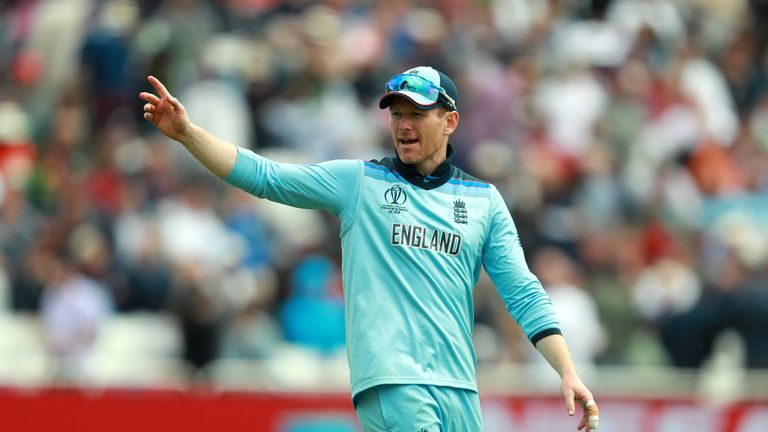 Eoin Morgan was left frustrated by England's fielding against Pakistan