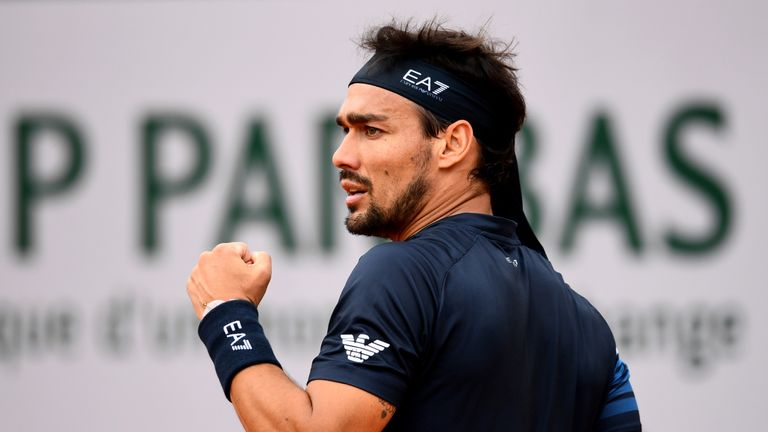Fabio Fognini made history by breaking into the world top 10 on Monday