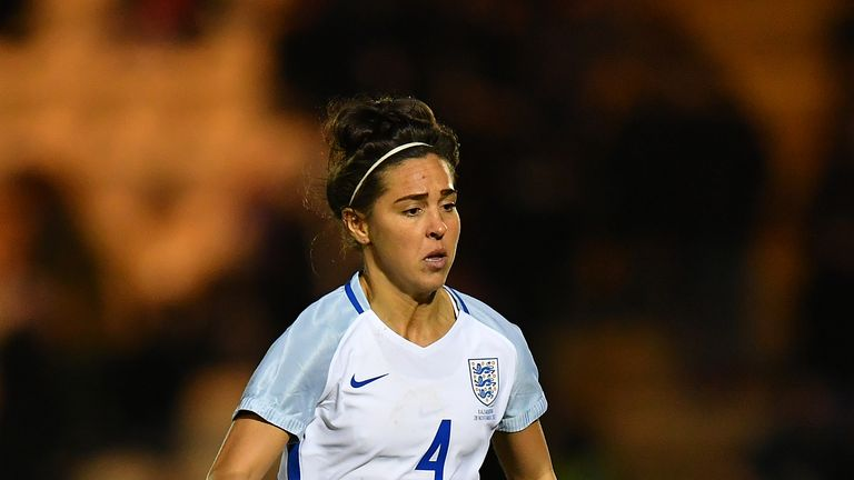 COLCHESTER, ENGLAND - NOVEMBER 28: Fara Williams of England controls the ball during the FIFA Women's World Cup Qualifier between England and Kazakhstan at Weston Homes Community Stadium on November 28, 2017 in Colchester, England. (Photo by Dan Mullan/Getty Images)