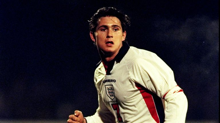 How many players earned more England U21 caps than Frank Lampard?