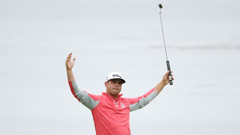 Gary Woodland claimed a three-shot win and a maiden major victory at the US Open.