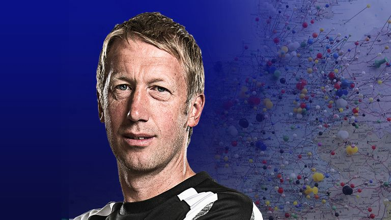 Graham Potter has moved from Swansea to Brighton