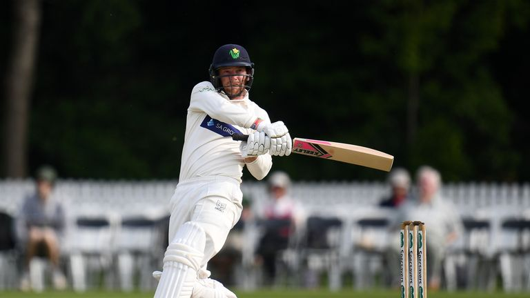 Glamorgan's Graham Wagg scored a hundred and shared a ninth-wicket partnership of 167 with Lukas Carey