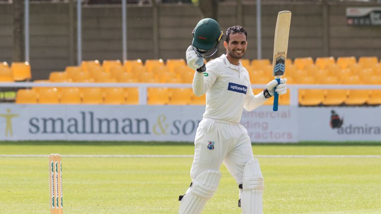 Hassan Azad finished as the leading run-scorer in Division Two, with 1189 at an average of 54.04