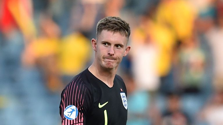 Dean Henderson made a mistake for Romania's third goal as England U21s crashed out in Italy