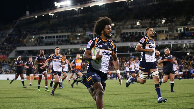 Henry Speight was one of the Brumbies' tryscorers in the quarter-final win over the Sharks