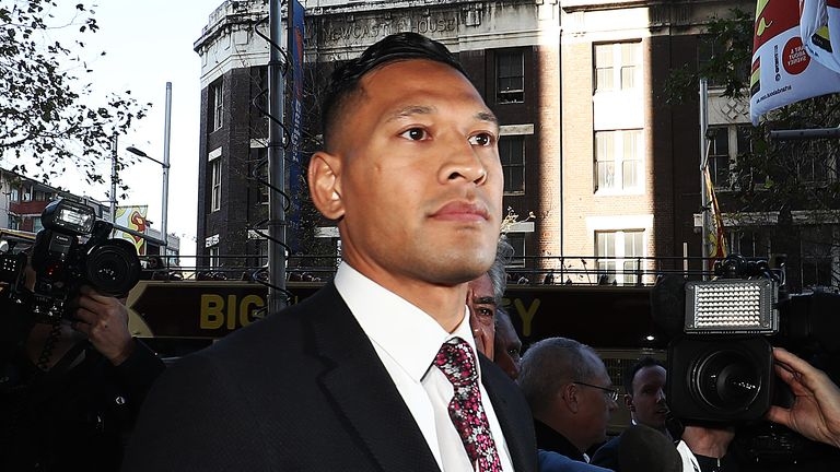 Israel Folau's long-running dispute with Rugby Australia shows no signs of abating