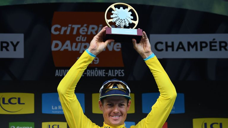 Jakob Fuglsang carried an eight-second lead over Adam Yates into the final stage of the Criterium du Dauphine