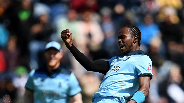 Jofra Archer bowled the dramatic super over in the England World Cup final win over New Zealand