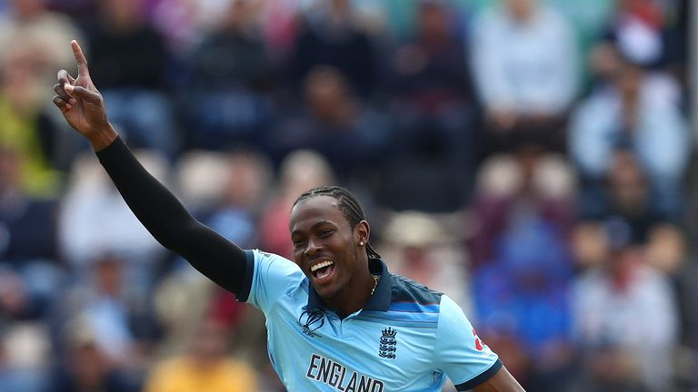 Jofra Archer took three wickets in his first game against West Indies