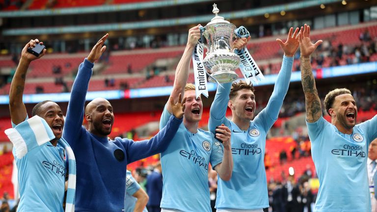 Manchester City defeated Watford to win the FA Cup in 2019