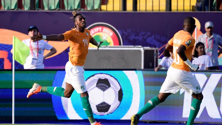 Aston Villa's Jonathan Kodjia scored Ivory Coast's winner against South Africa