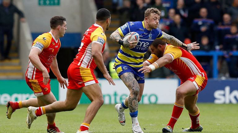 Josh Charnley was one of the tryscorers for Warrington in the win over Catalans Dragons