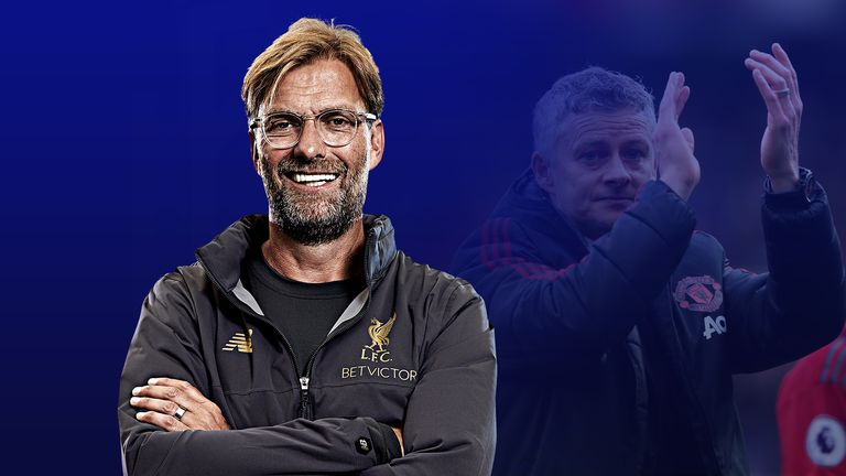 Jurgen Klopp's Liverpool are on top but it is a difficult summer awaiting Ole Gunnar Solskjaer's Manchester United