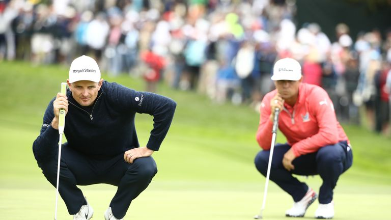 Justin Rose played alongside Woodland during the final round